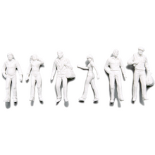Preiser Unpainted Detailed Walking Figures - 1:100