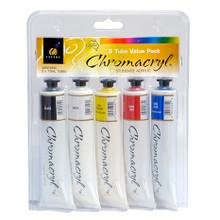 Chromacryl Student Acrylics - 5 x 75ml Tube Set