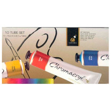 Chromacryl Student Acrylics - 10 x 75ml Tube Set