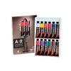 Chroma A2 Student Acrylics - 12 x 20ml Tube Set