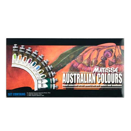 Matisse Structure Acrylics Australian Colours Set - 10 x 75ml