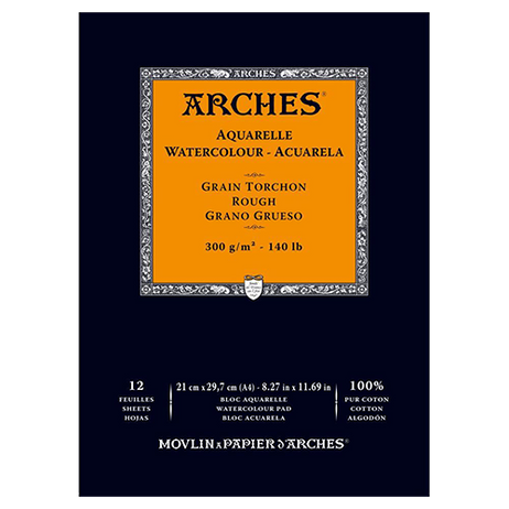 Arches Watercolour Pad Rough 300GSM - A4