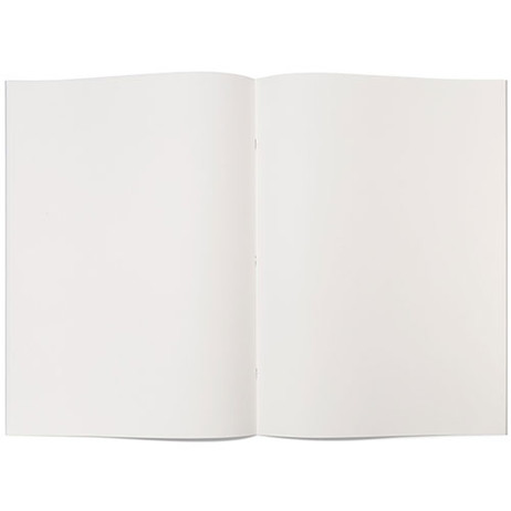 """Grey-Covered Booklet 120gsm 32pgs - A3/11.7"""" x 16.5"""" - Open"""