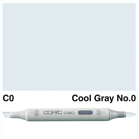 Copic Ciao Markers C0 - Cool Grey No. 0
