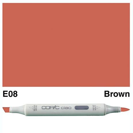 Copic Ciao Markers E08 - Brown