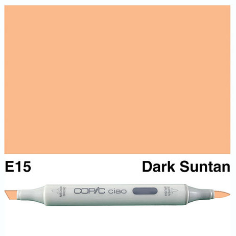 Copic Ciao Markers E15 - Dark Suntan