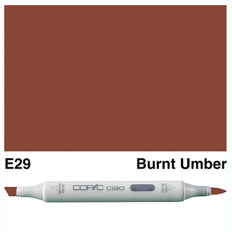 Copic Ciao Markers E29 - Burnt Umber