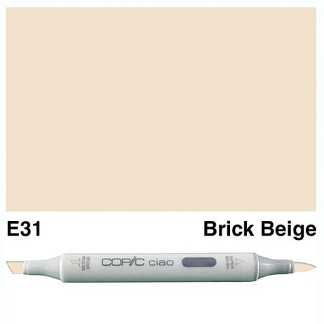 Copic Ciao Markers E31 - Brick Beige