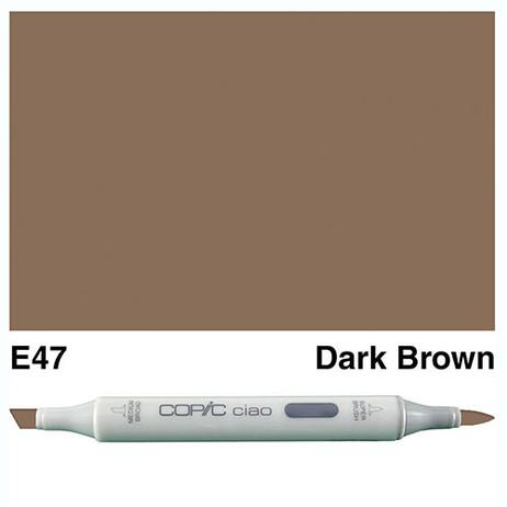 Copic Ciao Markers E47 - Dark Brown