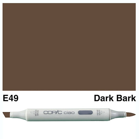 Copic Ciao Markers E49 - Dark Bark