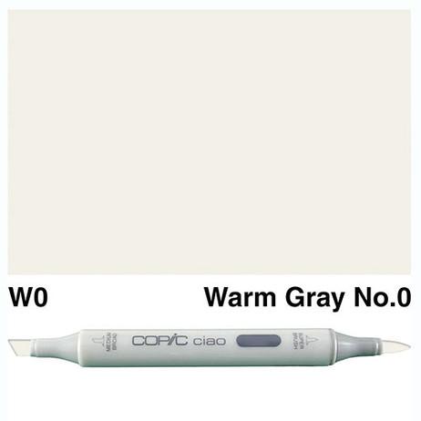 Copic Ciao Markers W0 - Warm Grey No. 0