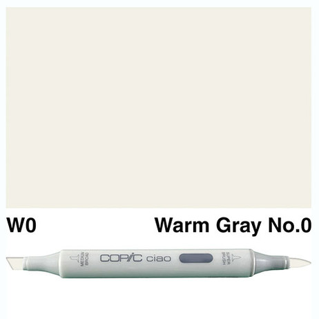 Copic Ciao Markers W0 - Warm Grey No. 0