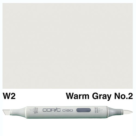 Copic Ciao Markers W2 - Warm Grey No. 2