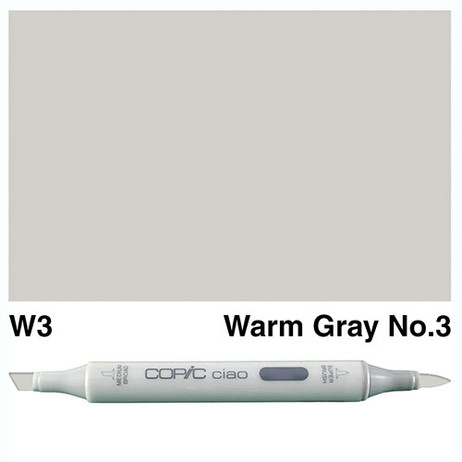 Copic Ciao Markers W3 - Warm Grey No. 3