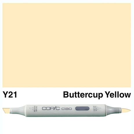 Copic Ciao Markers Y21 - Buttercup Yellow