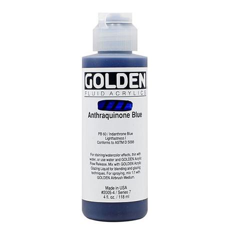 Golden Fluid Acrylics 118ml - Anthraquinone Blue S7