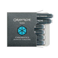 Caran D'Ache Chromatics Ink Cartridges 6pcs - Hypnotic Turquoise | 8021.191