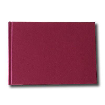 """K&P Hardbound Sketchbook 100gsm 176pgs - A5/8.3"""" x 5.8"""" Landscape - Red"""