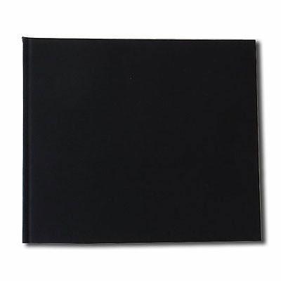 """Watercolour Paper Sketchbook 160gsm 120pgs - 24cm x 20.6cm/9.4"""" x 8.1"""" Landscape - Black"""