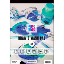 ART SPECTRUM DRAW AND WASH PAD A4 125GSM SMOOTH 30 SHEETS