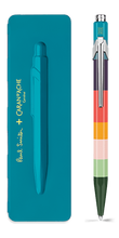 849 PAUL SMITH Ballpoint pen with slim case PEACOCK BLUE - Limited Edition | 849.668