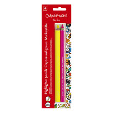 School Line Blister Maxi Fluo Highlighter Pencils 2 Pack | 491.702