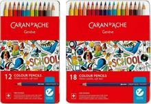 School Line Watersoluble Colour Pencils 18 Metal Box   1290.318
