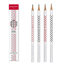 Grafik set with 4 HB Graphite Pencils Card, 2.1mm + 1 eraser | 343.401