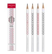 Grafik set with 4 HB Graphite Pencils Card, 2.1mm + 1 eraser | 343.401