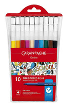 School Line Watersoluble Fibre|Tipped Pens 10 Pack | 285.810