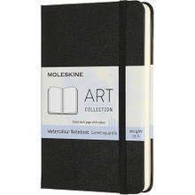 MOLESKINE ART WATERCOLOUR POCKET NOTEBOOK BLACK 9X14CM 60PAGES