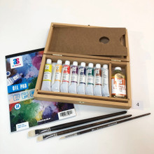 Wooden Oil Painting Set 4