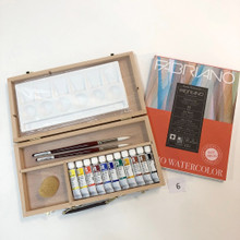 Wooden Watercolour Painting Set 6