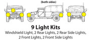 This 9 light kit LIGHTS YOU UP!