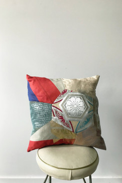 Japanese Brocade Patch Cushion (one only)