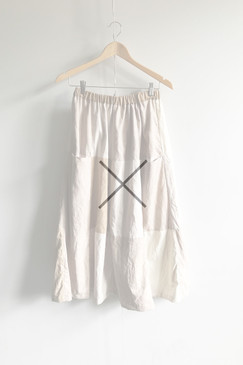 Natural Dye Patch Skirt (dried flower)
