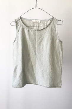 Milly S. Silk/Linen Camisole (silver grey)