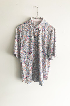 Print Cotton Shirt (S or M)