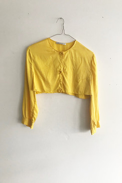 Scanlan & Theodore Silk Crop Jacket (S/M)