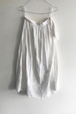 Elegance of Asia Cotton Embroidered Skirt (M)