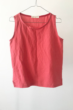 Milly S. Silk/Linen Camisole (coral)