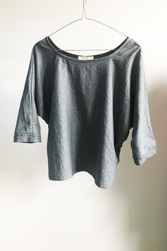 Milly S. Dolman Sleeve Chambray Top