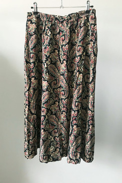 Pocketed Paisley Midi Skirt (M)