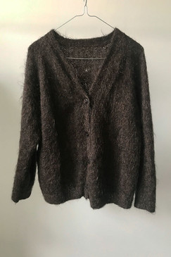 Hand-knitted Mohair Cardigan (S/M)