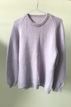 Lilac Handknitted Jumper (M)