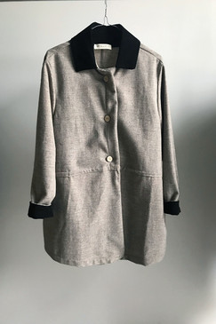 Milly S. Wool Throwover Jacket - One Only