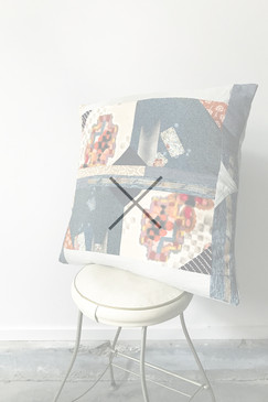 Contemporary Patchwork Cushion 2 (one only)