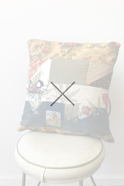 Milly S. Patchwork Cushion - Wood Duck I (small)