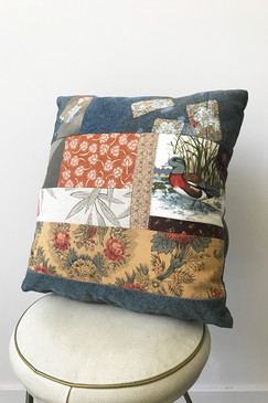 Milly S. Patchwork Cushion - Wood Duck II (small)