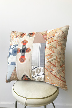Milly S. Patchwork Cushion - Orange Bursts I (medium)